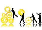 仕事のチームの概念 — ストックベクタ