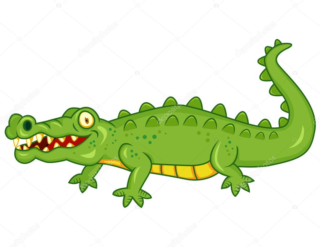 Vector illustration of crocodile cartoon  Stock Vector #7872034