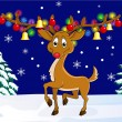 Christmas deer - Image vectorielle