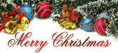 Vánoční nápis — Stock fotografie