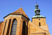 Gothic church with tower — Stock Photo