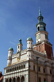Facade of City Hall in Poznan — Stock Photo