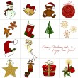 Cute Christmas greeting card design - Stock fotografie