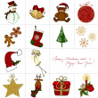 Cute Christmas greeting card design - Stock Photo