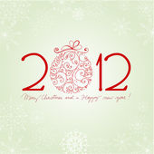 Beautiful New Year's Card with snowflakes — Stok fotoğraf