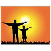 Father and daughter.Vector — Stock Vector