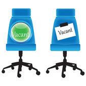 Vacant seat.Vector — Stock Vector