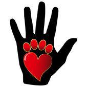 Love Animals.Vector — Stock Vector