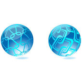 3D Globes - Background.Vector — Stock Vector
