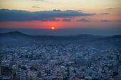 Sunrise in Bethlehem, Palestine, Israel — Stock Photo