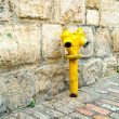 Yellow vintage fire hydrant in Jerusalem — Stock Photo #7620374