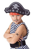 The kid wearing in pirate costume — Stock Photo