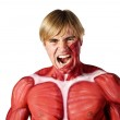 Muscle man screaming — Stock Photo