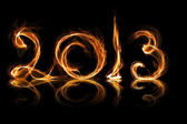 2013 year in fire — Stock Photo