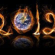 Earth 2012 year in fire — Stock Photo