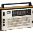 Oldfashioned retro radio - 图库照片