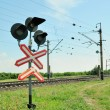 Railway traffic lights — Stock Photo