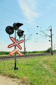 Railway traffic lights — Stock fotografie