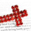 Red cross and bible - Stock Photo