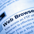 Stockfoto: Web browser