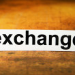 Stock Photo: Exchange