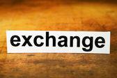 Exchange — Stock Photo