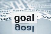 Goals inscription on paper — Foto de Stock