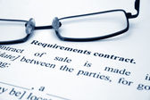 Requirement contract — Stock Photo