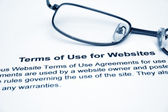Terms of use for websites — Stock Photo