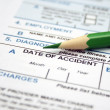 Stock Photo: Health form - date of accident