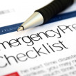 Stock Photo: Emergency checklist