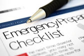 Emergency checklist — Stock Photo