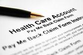 Health care account — Stock Photo
