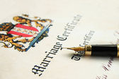 Marriage certificate — Stock Photo