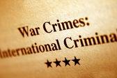 War crime — Stock Photo