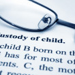 Custody of child — 图库照片