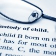 Custody of child — Stok fotoğraf
