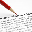 Stock Photo: Domain name license