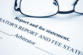 Report and fee statement — Stock Photo