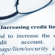 Stock Photo: Increasing credit limit