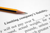 Limiting company liability — Stock Photo