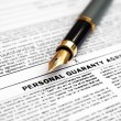 Royalty-Free Stock Photo: Personal guaranty agreement