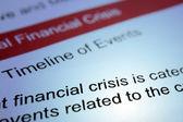 Financial crisis — Photo