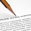 Online access agreement — Stock Photo