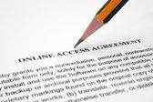 Acordo de acesso on-line — Fotografia Stock
