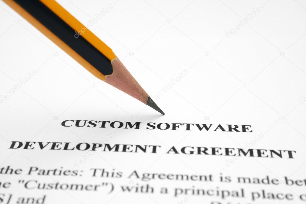 Software Development Agreement — Stock Photo © Alexskopje #7365844