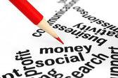Koncepcja pieniądza — Zdjęcie stockowe