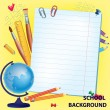 Background back to school — Stock Vector