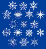 Rounded decorative snowflakes — Vector de stock