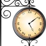 Street clock — Stock Vector